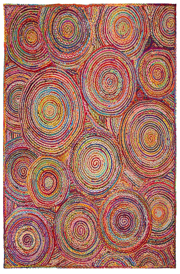 Red, Green, Yellow (A) Bohemian Area Rug