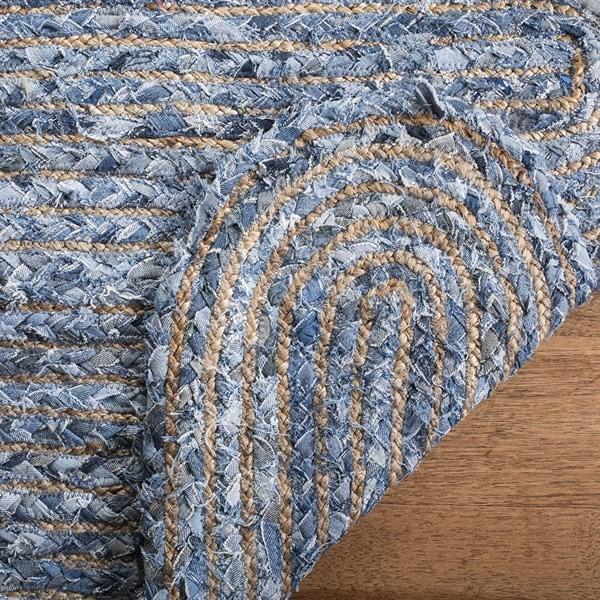 Blue, Natural (L) Bohemian Area Rug