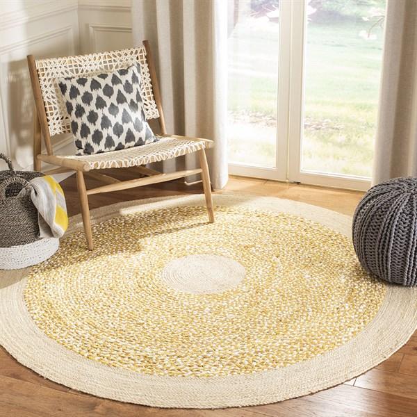 Gold, Natural (D) Bohemian Area Rug