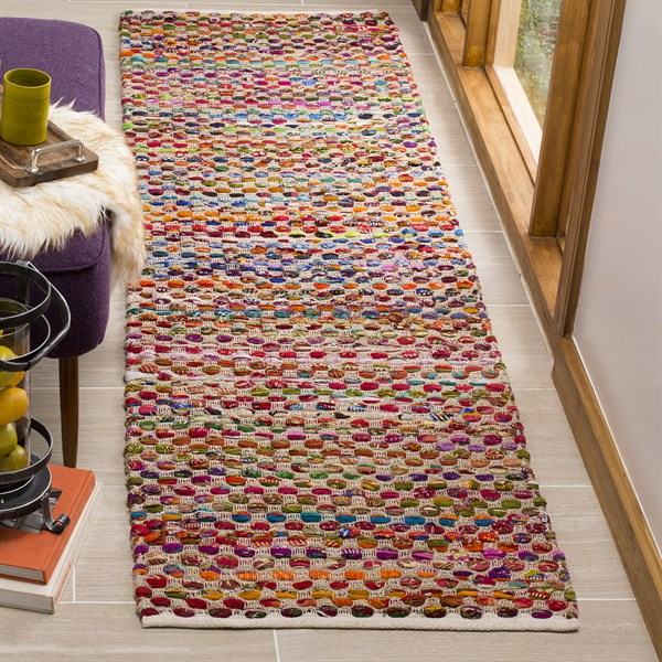 Natural, Red (A) Bohemian Area Rug