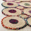 Product Image of Red, Natural (Q) Bohemian Area Rug
