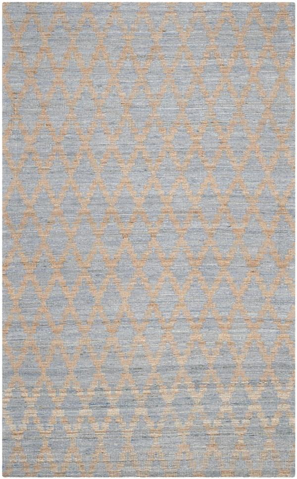 Light Blue, Gold (A) Bohemian Area Rug