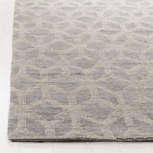 Grey, Gold (A) Geometric Area Rug