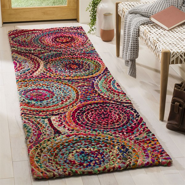 Natural, Yellow, Red (A) Bohemian Area Rug