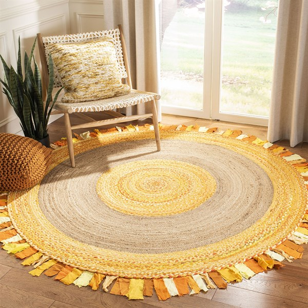Gold, Natural (D) Bohemian Area Rug