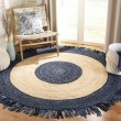 Product Image of Navy, Natural (N) Bohemian Area Rug