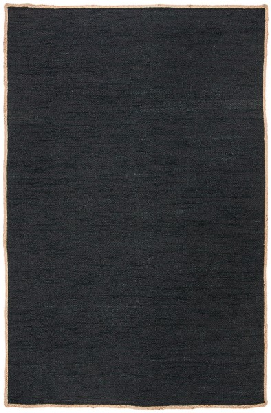 Black, Natural (Z) Contemporary / Modern Area Rug