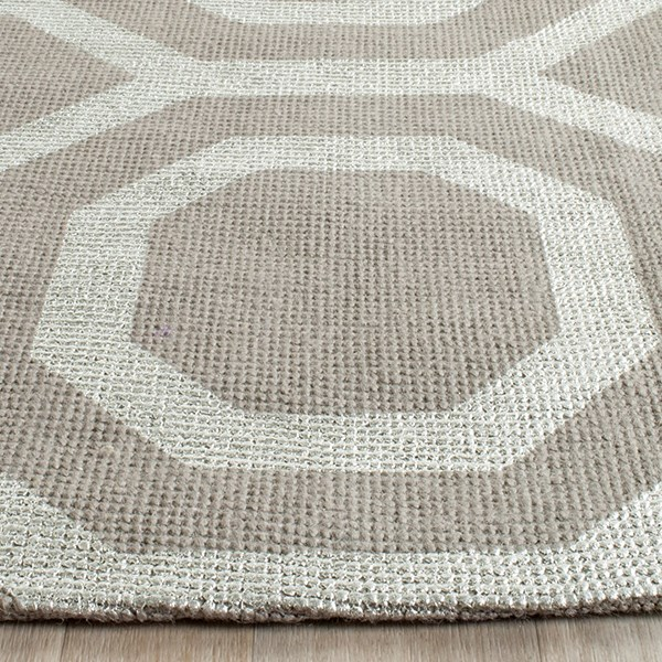 Grey, Silver (K) Transitional Area Rug