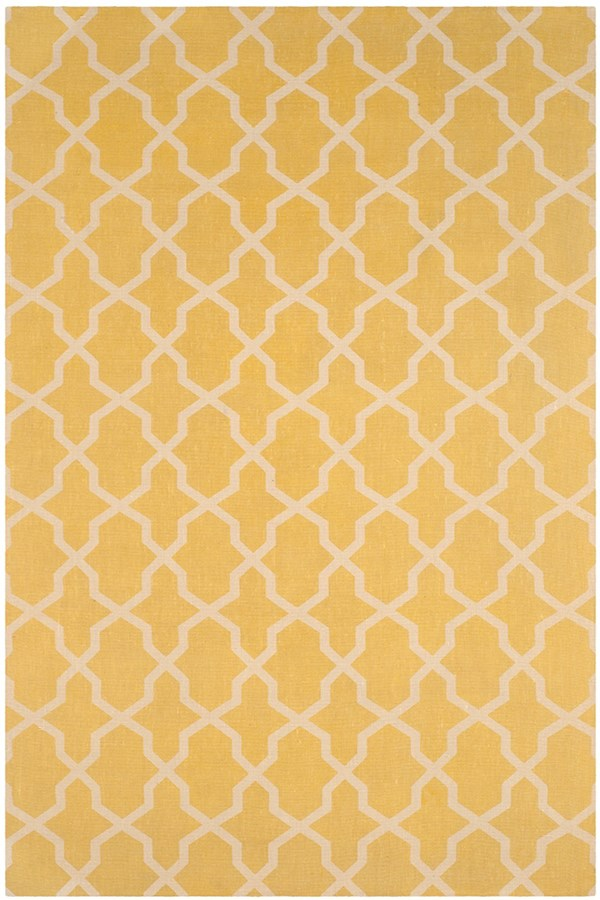 Yellow, Ivory (B) Moroccan Area Rug