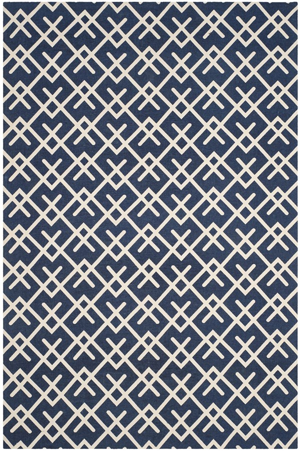 Navy, Ivory (G) Transitional Area Rug