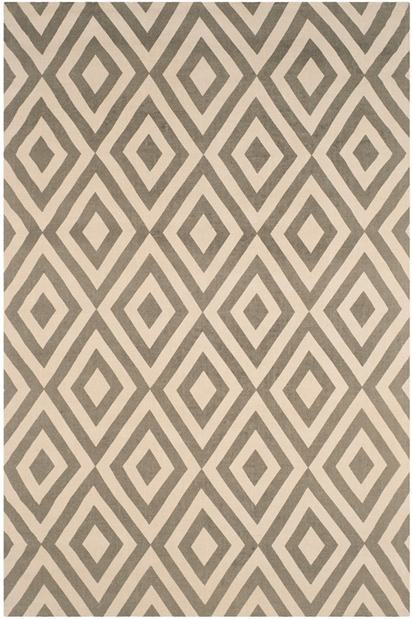 Ivory, Grey (D) Transitional Area Rug