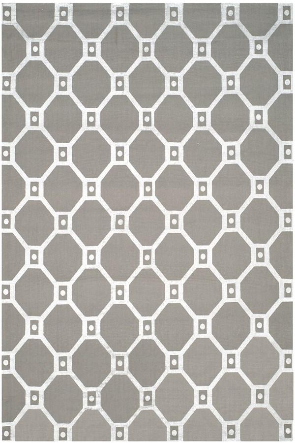 Grey, Silver (K) Transitional Area Rug
