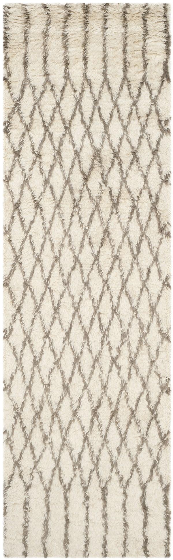 White, Grey (A) Southwestern / Lodge Area Rug