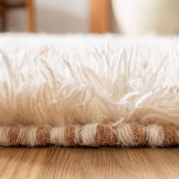 Ivory, Rust (A) Bohemian Area Rug
