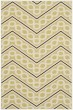 Product Image of Chevron Green, Ivory (AG) Area Rug