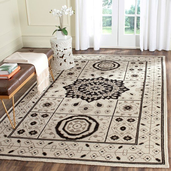 Ivory, Grey (A) Moroccan Area Rug