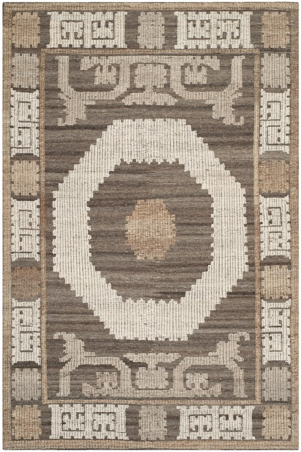 Ivory, Brown (A) Southwestern / Lodge Area Rug