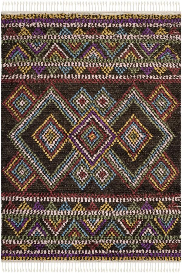 Brown (A) Southwestern / Lodge Area Rug