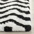 Product Image of White, Black (C) Chevron Area Rug
