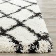 Product Image of Ivory, Charcoal (B) Shag Area Rug