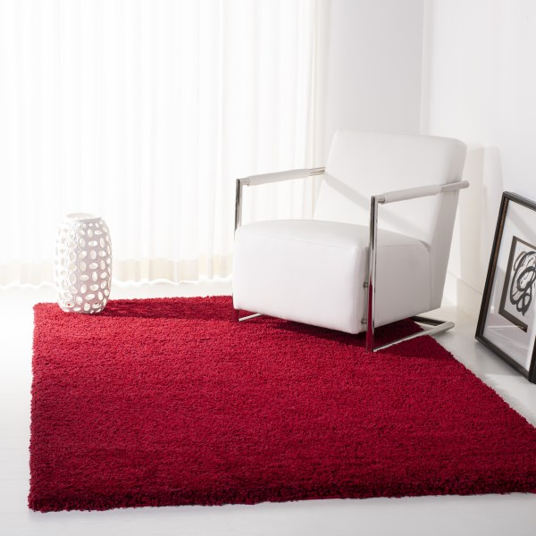 Red (4040) Solid Area Rug