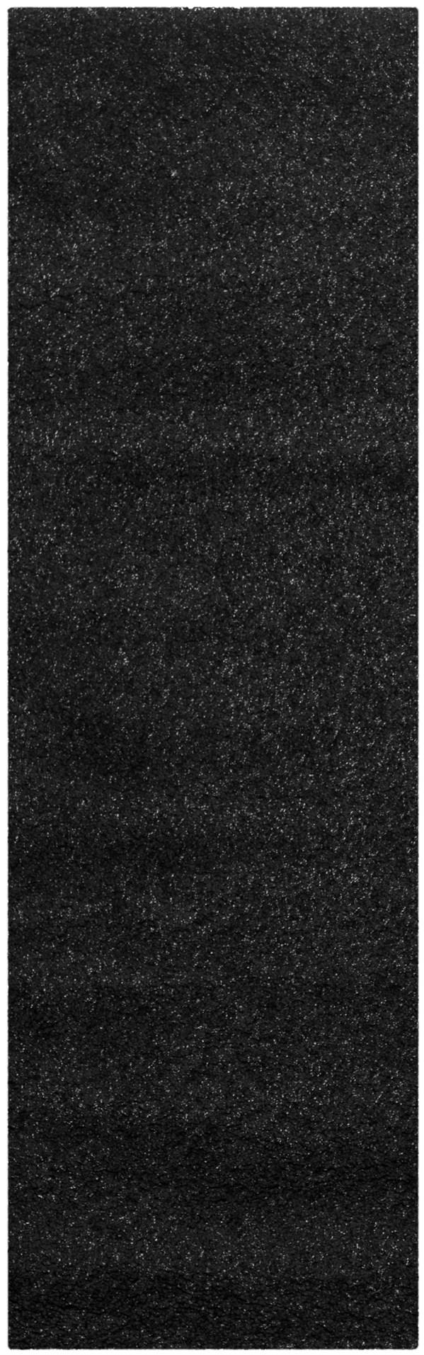 Black (9090) Solid Area Rug