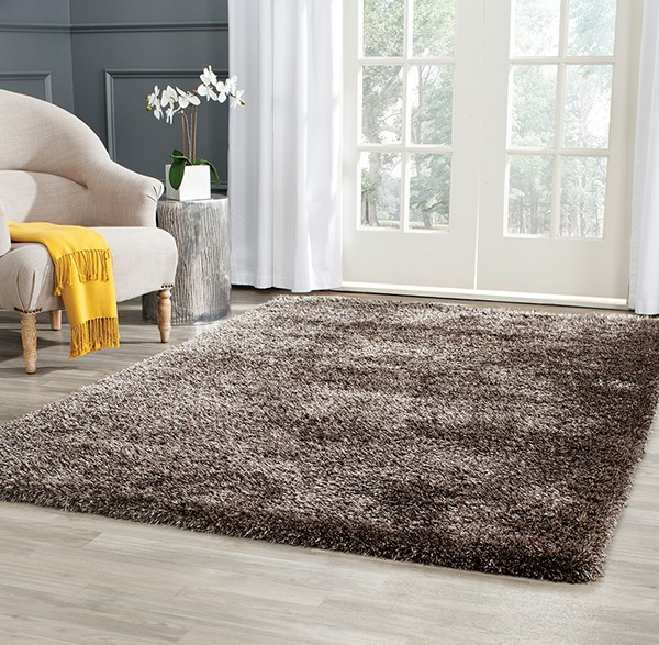 Brown (B) Solid Area Rug