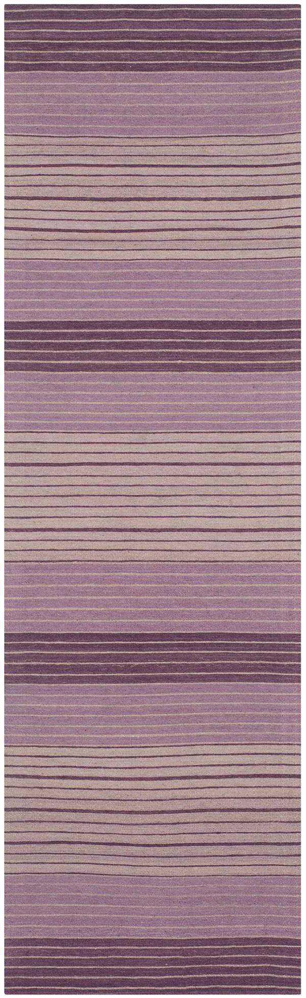 Lilac (A) Striped Area Rug