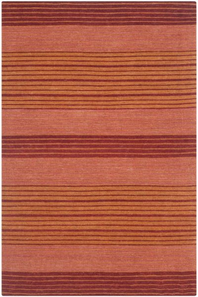 Rust (A) Striped Area Rug