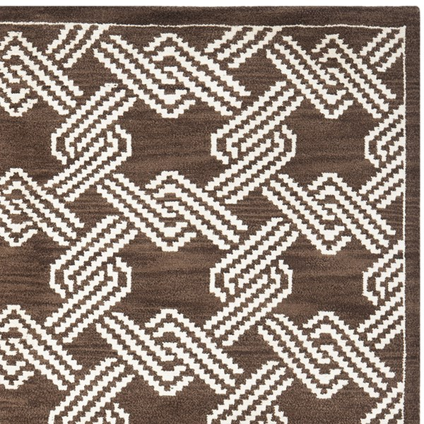 Brown, Creme (A) Moroccan Area Rug