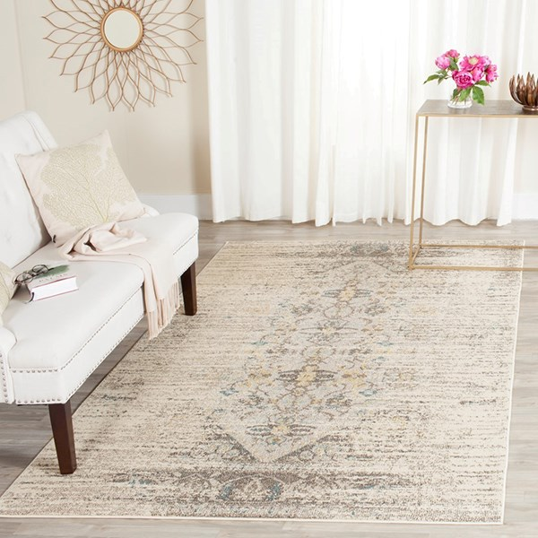 Grey (G) Traditional / Oriental Area Rug