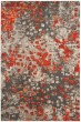 Product Image of Contemporary / Modern Grey, Orange (H) Area Rug