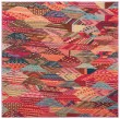 Product Image of Red, Pink, Light Blue (D) Contemporary / Modern Area Rug