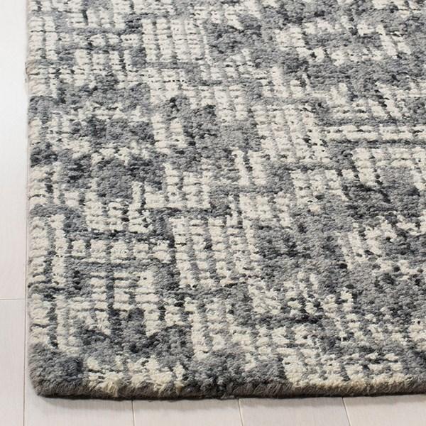 Ivory, Dark Grey (A) Rustic / Farmhouse Area Rug