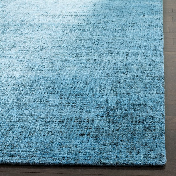 Blue, Black (A) Rustic / Farmhouse Area Rug