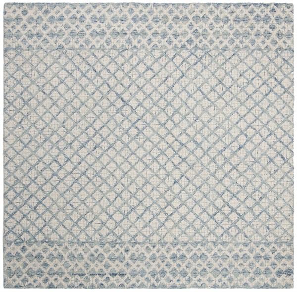 Blue, Ivory (A) Rustic / Farmhouse Area Rug