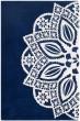 Product Image of Navy, Ivory (A) Mandala Area Rug