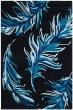 Product Image of Black, Blue (B) Floral / Botanical Area Rug
