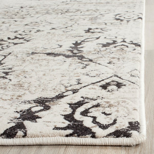 Charcoal, Cream (A) Transitional Area Rug