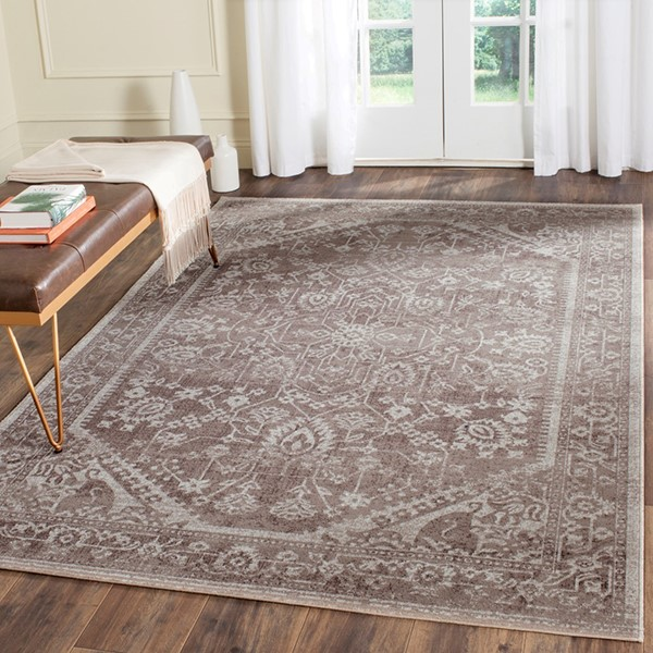 Brown, Ivory (P) Traditional / Oriental Area Rug