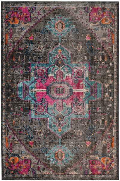Anthracite (J) Traditional / Oriental Area Rug