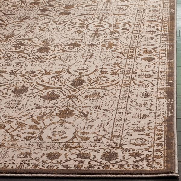 Cream, Bronze (D) Traditional / Oriental Area Rug