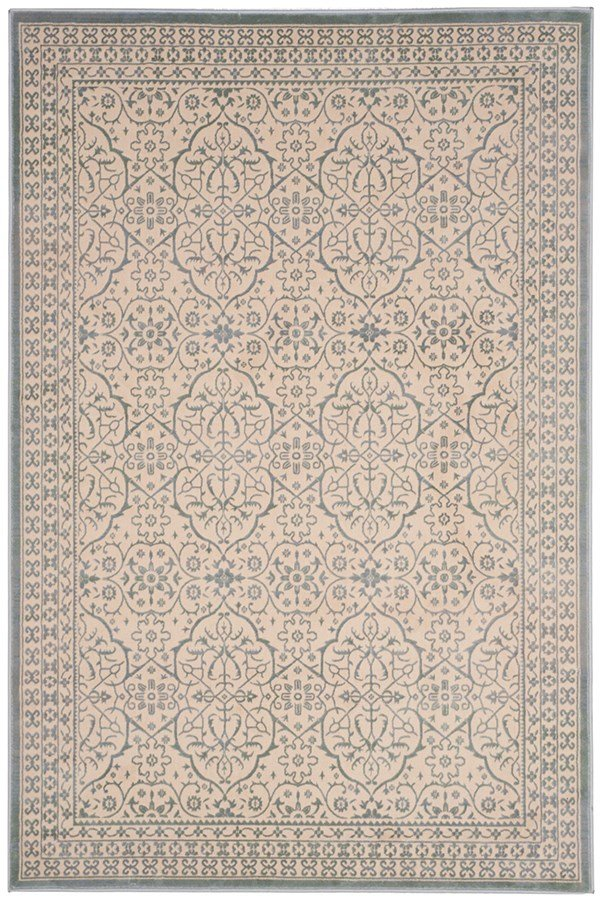 Cream, Sage (A) Traditional / Oriental Area Rug