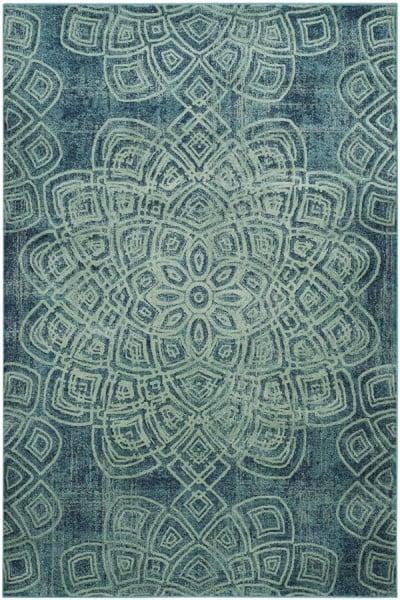Light Blue (2220) Mandala Area Rug