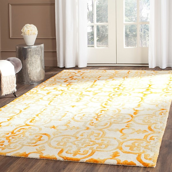 Ivory, Gold (C) Moroccan Area Rug