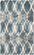 Product Image of Contemporary / Modern Grey, Ivory Blue (J) Area Rug
