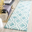 Product Image of Turquoise, Ivory (D) Moroccan Area Rug