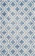 Product Image of Contemporary / Modern Blue, Ivory (K) Area Rug