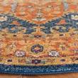 Product Image of Orange, Blue (C) Traditional / Oriental Area Rug