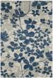 Product Image of Floral / Botanical Grey, Light Blue (J) Area Rug